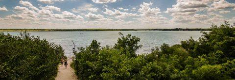 Das Wassersportzentrum am Hainer See
